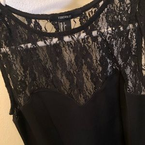 Forever 21 Dresses - High Neck Black Lace Dress